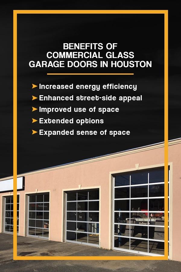 Benefits of Commercial Glass Garage Doors in Houston