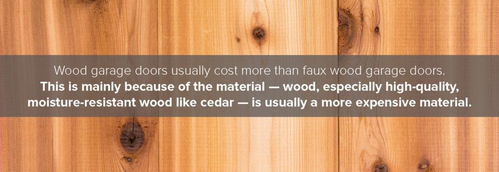wood doors cost more