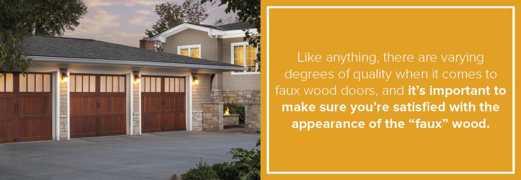 quality of faux wood doors varies