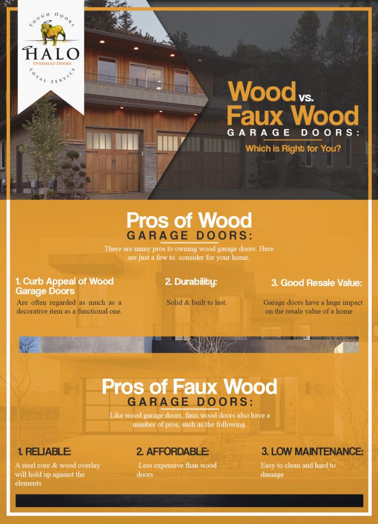 faux wood garage doors vs wood garage doors