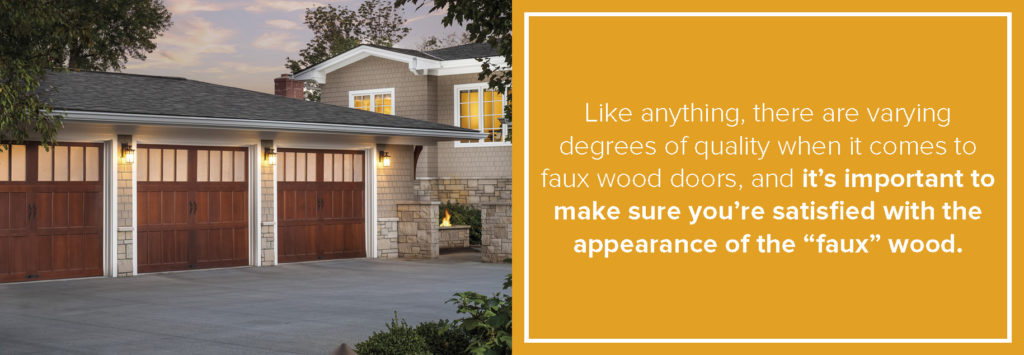 quality of faux wood doors varies